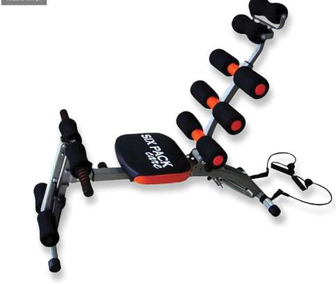 Six Pack Ab Care Exerciser with Inbuilt Pedal Cycle image 1