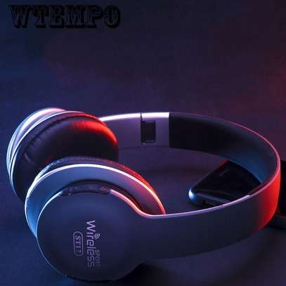 Wireless Bluetooth Headphones With  Card Radio Function image 3