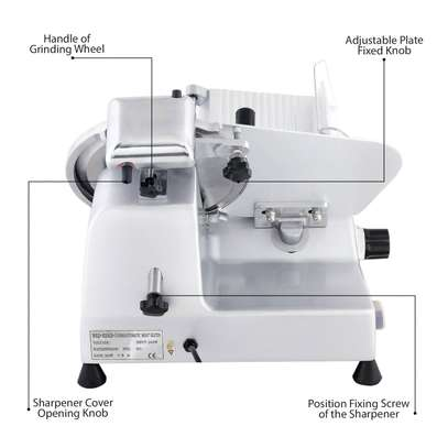 Commercial 320W Electric Meat Slicer 10-Inch with Non-sticky Teflon Blade image 3