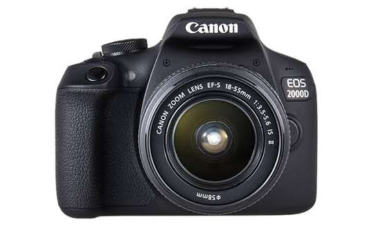 Canon EOS 2000D DSLR Camera and EF-S 18-55 mm Lens image 1