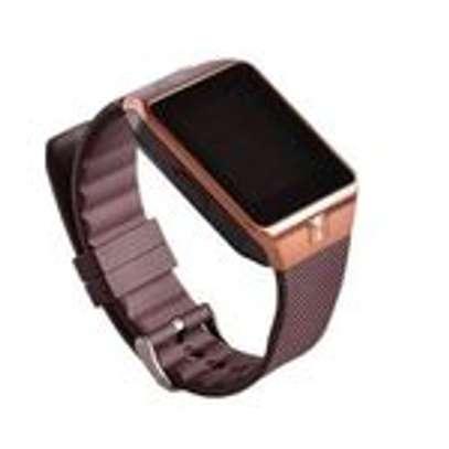 New Model DZ-09 Touch Screen Smart WatchNew Model B701 Touch Screen Smart Watch Phone - Brown Phone - Brown image 2