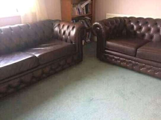 Leather chesterfield sofas for offices, hotel lounges and homes image 2