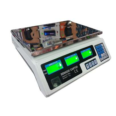 Electronic scale 30 kg with Accumulator and Stainless Steel Turntable image 1