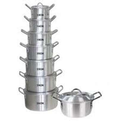 14 PCS Aluminum Cooking Pot image 1