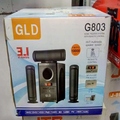 GLD G803 3.1 Channel 10,000watts System Bluetooth Speakers image 1