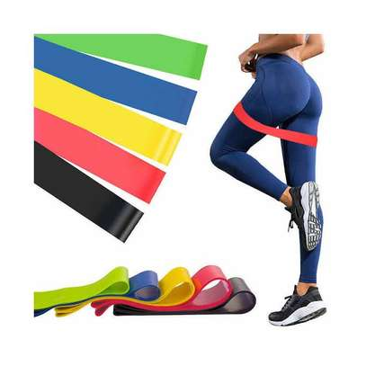 Yoga 5 In 1 Yoga Stretch Out Strap Resistance Band image 1