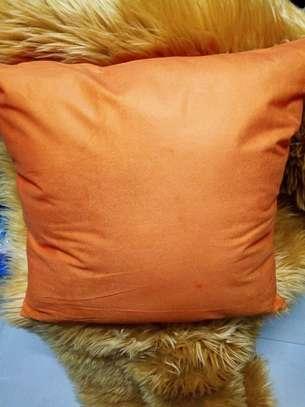 Plain Orange Throw Pillow Covers image 2