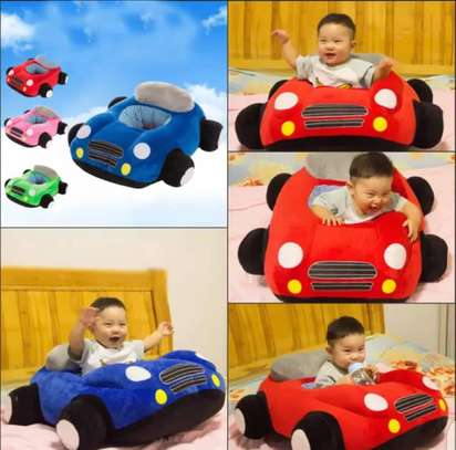 baby Car Sitting Children's Sofa,Plush Baby Sitting Learning Kid's Chair Floor seat Infant positioner Anti-Fall and Rollover Children's Furniture for Kids 3-18 Months image 1