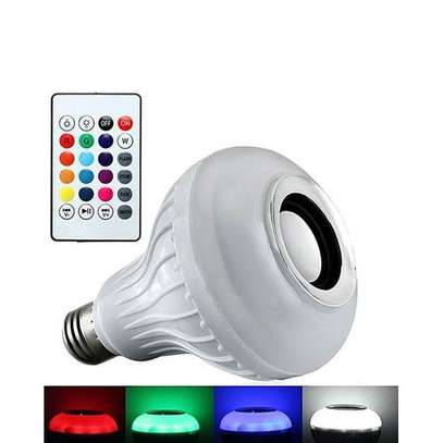 LED Light Bulb with Speaker Bluetooth Smart Music Bulb - Multi-Color image 1