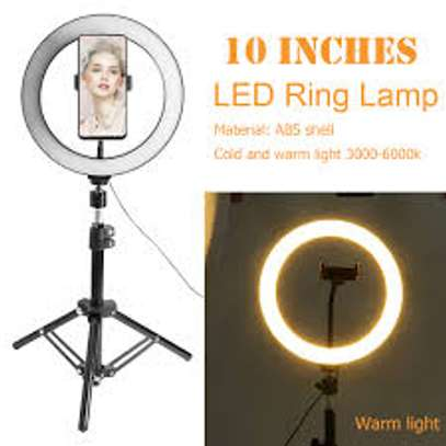 10 Inch Ring Light with Stand and Phone Holder, Dimmable LED Ring Light image 1