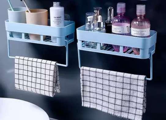Multi-functional Bathroom Storage Rack Holder Towels Rack Shaver Tooth Brush Dispenser Bathroom Organizer Accessories image 1