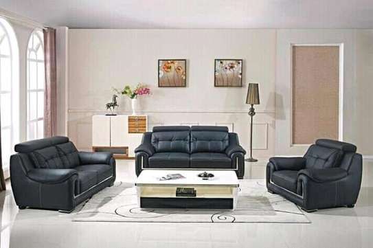 6-seater leather sofa