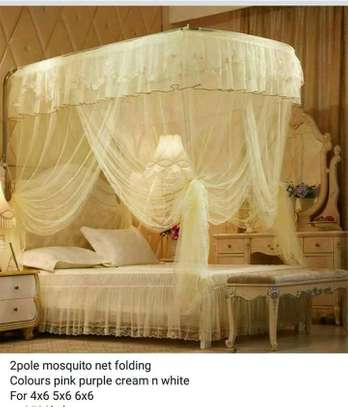 Two stands mosquito nets
