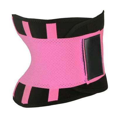 Generic Body Shapers Uni Waist Trimmer Tummy Slimming Belt Latex Waist Trainer For Men Women Postpartum Corset Shapewear( Blue) image 3