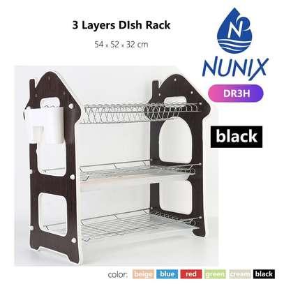 Nunix 3 Layers Dish Rack With Draining Board image 1