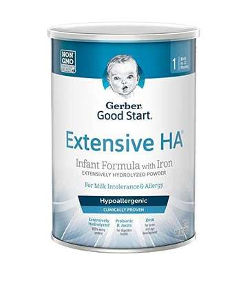 Gerber Extensive HA Hypoallergenic Powder Infant Formula with Iron, 14.1 Ounces image 1