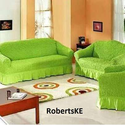green sofa cover 7 seater image 1