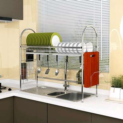 Over the Sink Dish Rack... Stainless Steel image 1