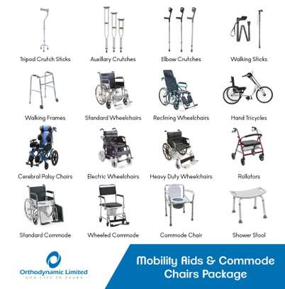 Standard commode wheelchair image 9