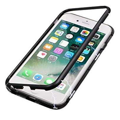 Magnetic Case For iPhone 8 8 Plus With Metal Frame, Glass Back image 2