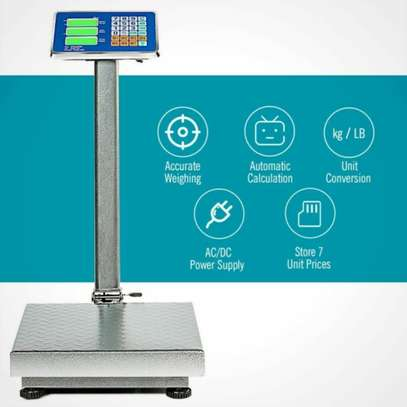 Digital Postal Platform Scale 660lb Weight Shipping Foldable Supermarkets LED image 3