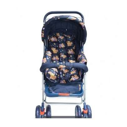 Baby Stroller/ Foldable Pram Portable Baby Stroller With Universal Casters- multicolour image 3