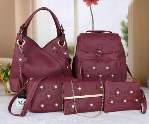 Amazing 5 in 1 Pure leather Handbags image 11