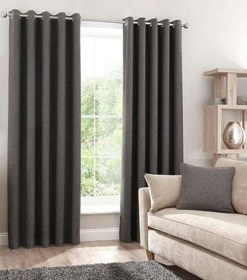 Linen Grey Curtain image 1