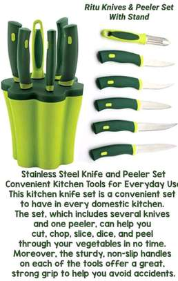 Ritu knife Set with stand image 1