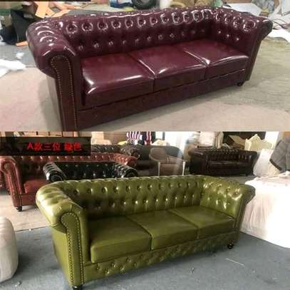 Leather chesterfield sofas (5/7 seaters)