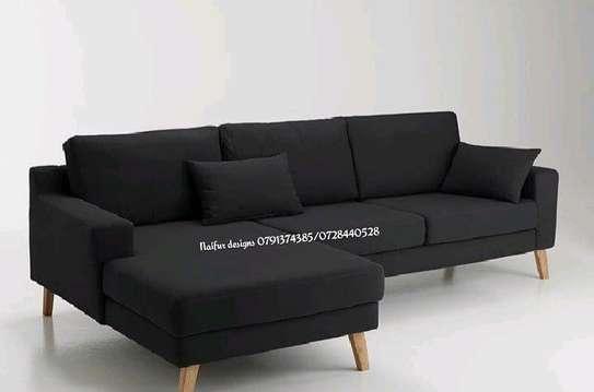 Black sofas for sale in Nairobi Kenya/ L shaped sofas/four seater sofas for sale in Nairobi Kenya image 1