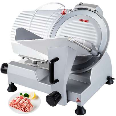 """Food and Meat Slicer 10"""" Blade Big Sliced Meat Exit Behind the Machine for Slice Meat Sliding Out Quickly image 6"""