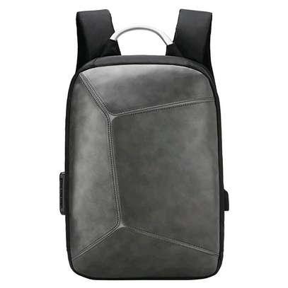 Antitheft leather Backpack laptop bag image 3
