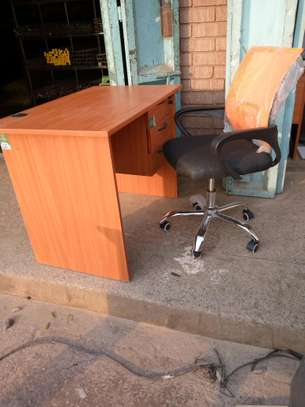 Office desk 1mtr + chair on sale image 1