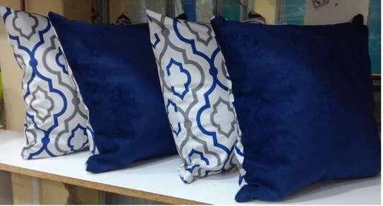 Matching Navy blue throw pillows image 2