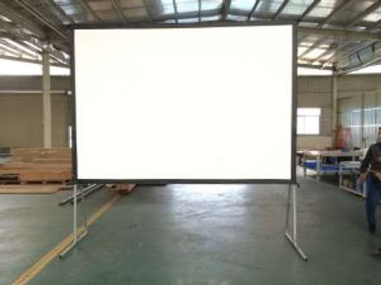 Fast Folding Projection Screen with Draper Kits Custom Sizes image 1