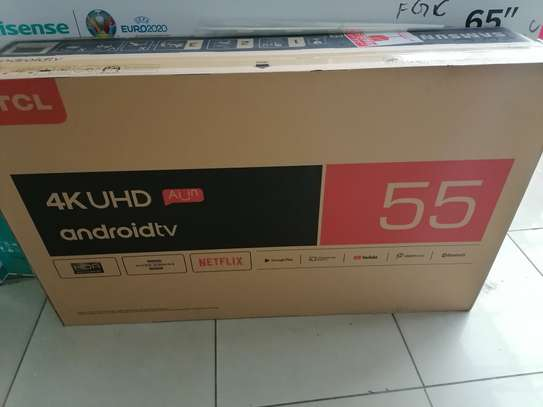 Brand new 55 inch tcl smart android 4k uhd clarity image 1