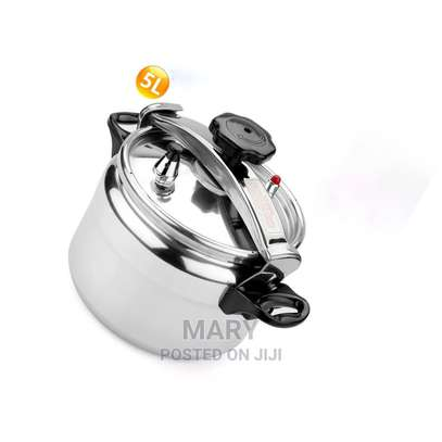 5 Litres Stainless Steel Pressure Cooker image 1