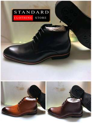 PURE ITALIAN LEATHER SHOES WITH RUBBER SOLE image 9