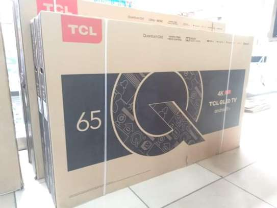 65 inch TCL smart android UHD 4K television Q LED image 1