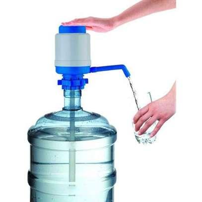Manual Hand Press Drinking Water Dispenser Pump - Blue image 3
