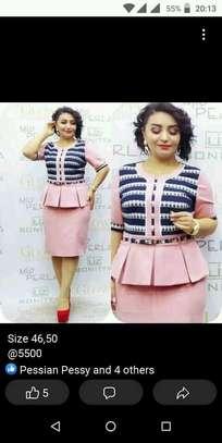 Peach dress image 1