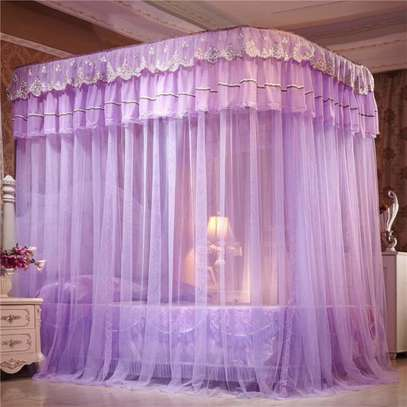 2 STAND MOSQUITO NET-PURPLE image 1
