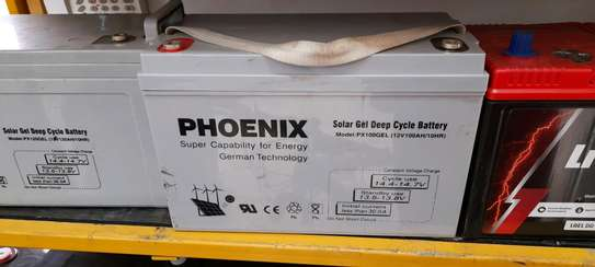 Phoenix Solar Gel Deep Cycle Battery  12v 100ah 10hr image 1