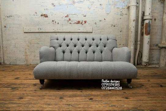 Modern grey love sofas/two seater sofas image 1