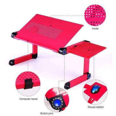 Laptop Stand- Adjustable Folding, Fan, Mouse Pad image 3