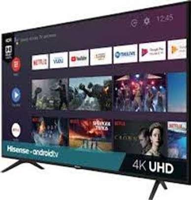 Hisense 65'' 4K ULTRA HD SMART TV, FRAMELESS, BLUETOOTH, HDR A7 SERIES-Black image 1