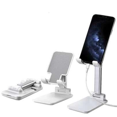 Desktop Foldable Height Adjustable Phone Holder Tablet Stand For Smart Phone image 1