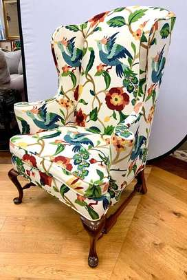 Kitenge Armchairs/Wing back chairs image 3