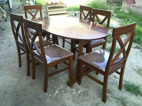 dining set of six and eight chairs image 3